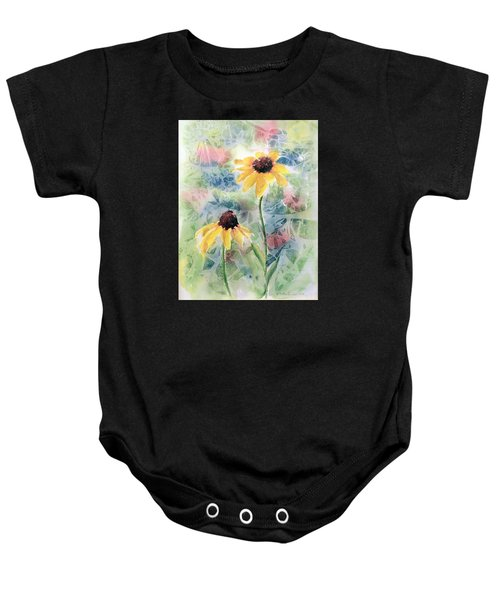 Two Sunflowers Baby Onesie