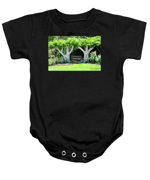 Two Tall Trees, Paradise, Romantic Spot Baby Onesie
