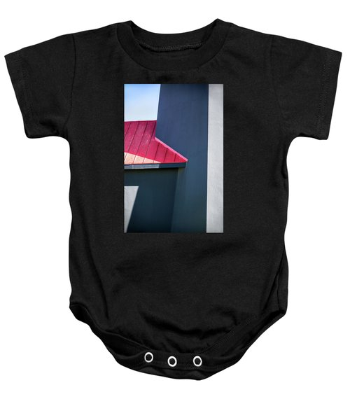 Tybee Building Abstract Baby Onesie