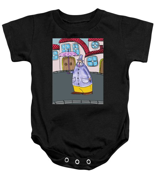 Umbrella Man Baby Onesie
