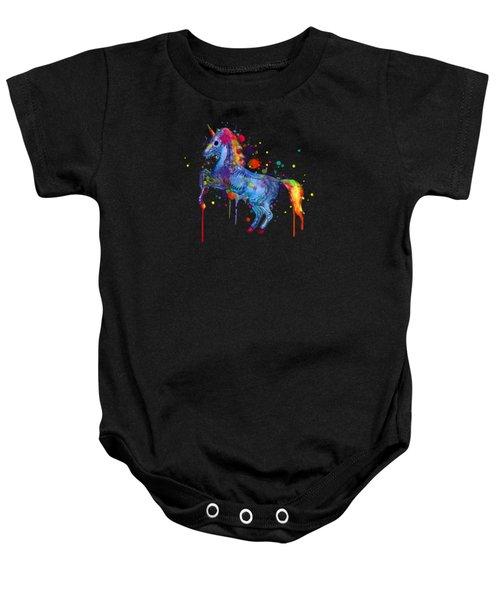 Unicorn Skeleton 2.0 Baby Onesie