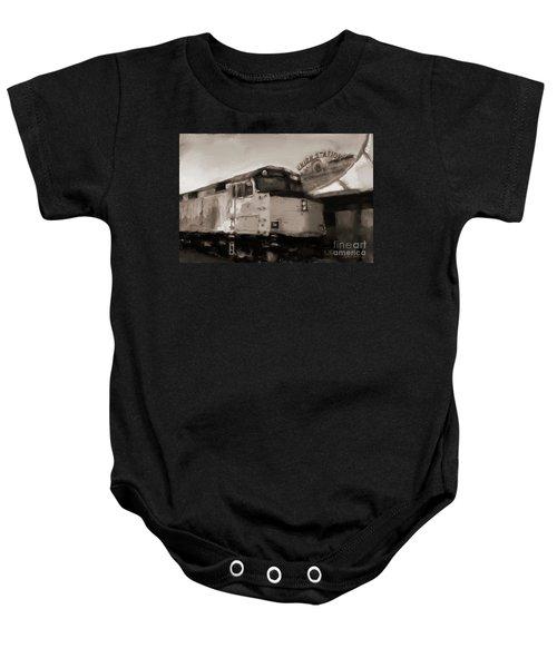 Union Station Train Baby Onesie