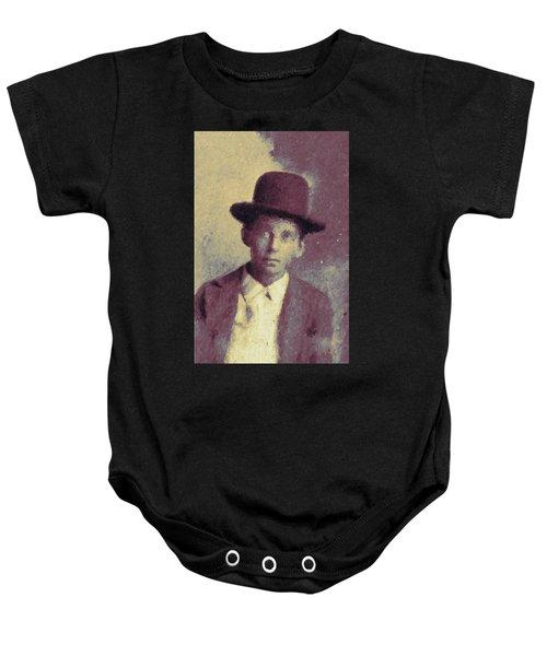 Unknown Boy In A Bowler Hat Baby Onesie