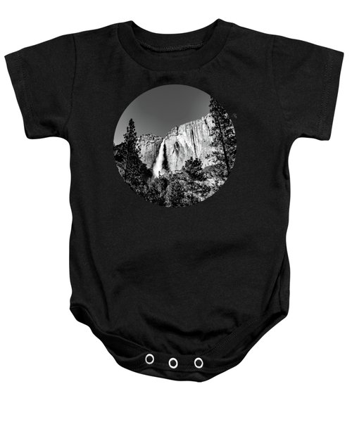 Upper Falls, Black And White Baby Onesie by Adam Morsa