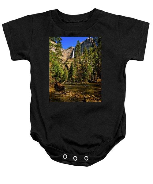 Upper Yosemite Falls From Yosemite Creek Baby Onesie