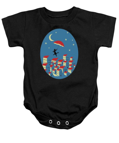 Upton The Cat And His Evening Adventures Baby Onesie
