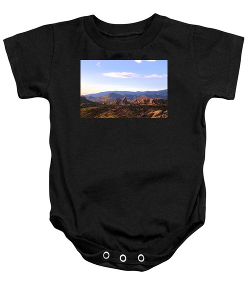 Vasquez Rocks Sky And Stones Baby Onesie