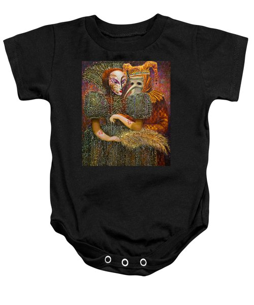 Venetian Masks Baby Onesie