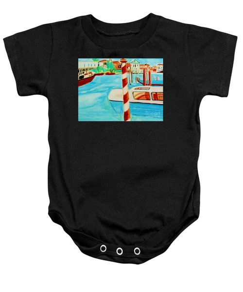 Venice Travel By Boat Baby Onesie