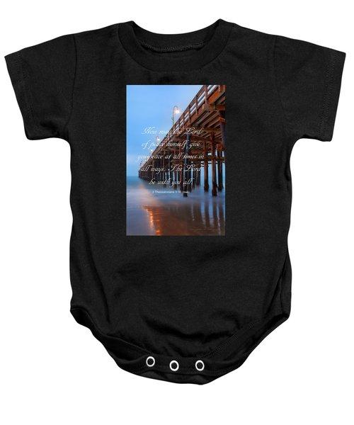 Ventura Ca Pier With Bible Verse Baby Onesie
