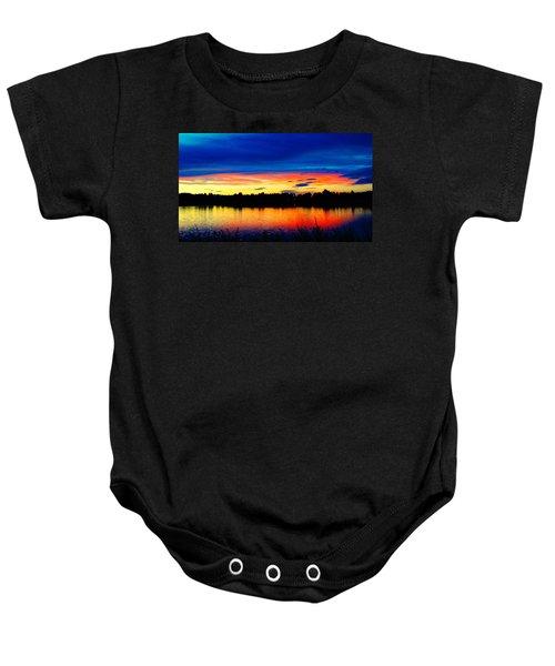 Vermillion Sunset Baby Onesie