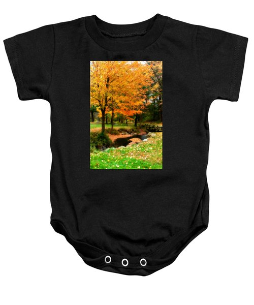 Baby Onesie featuring the photograph Vibrant October by Renee Hong