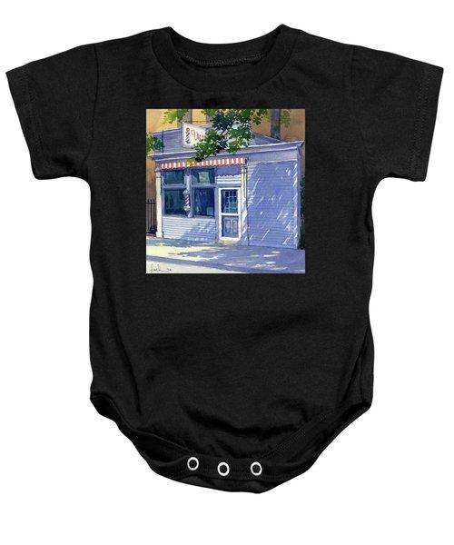 Vic's Barbershop Baby Onesie