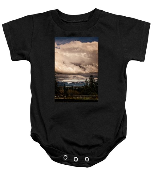 View From Flicka Farm Baby Onesie