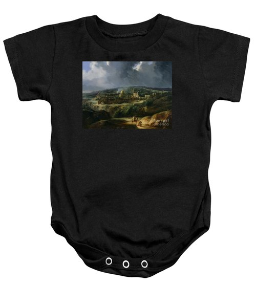 View Of Jerusalem From The Valley Of Jehoshaphat Baby Onesie