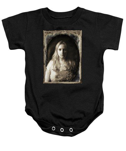 Vintage Tintype Ir Self-portrait Baby Onesie