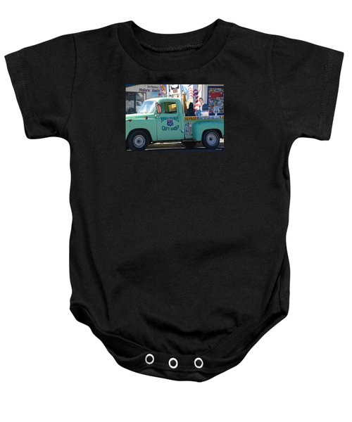 Vintage Truck With Elvis On Historic Route 66 Baby Onesie