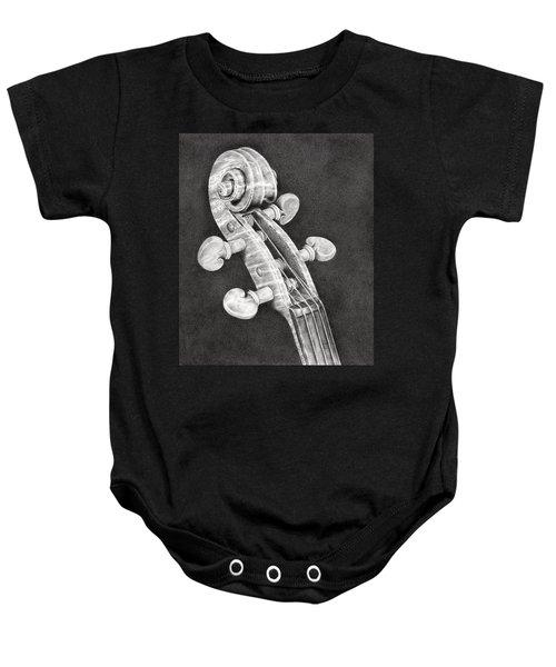 Violin Scroll Baby Onesie
