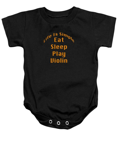 Violin Viola Eat Sleep Play Violin 5522.02 Baby Onesie