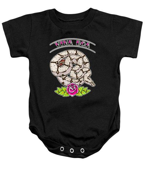 Viva Boa Constrictor Baby Onesie