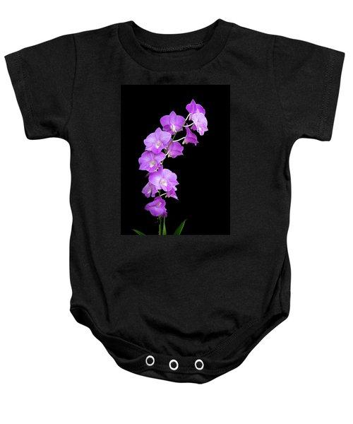 Vivid Purple Orchids Baby Onesie