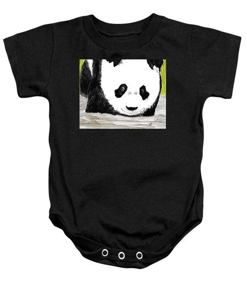 Vivi's Pet Panda Baby Onesie