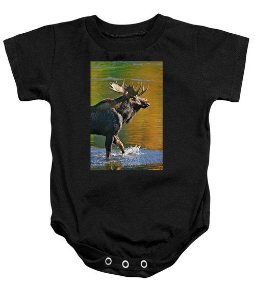Wading Moose Baby Onesie