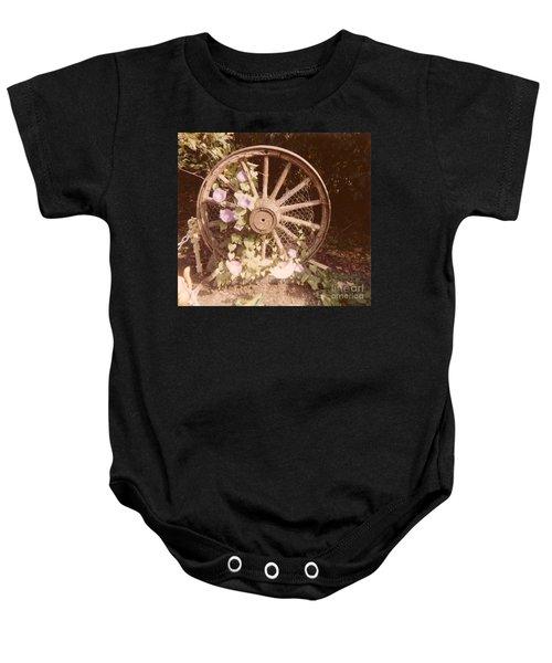 Wagon Wheel Memoir Baby Onesie