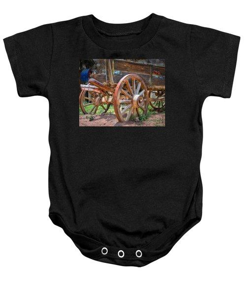 Wagons Ho Baby Onesie