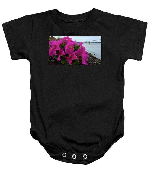 Walkway Petunias Baby Onesie