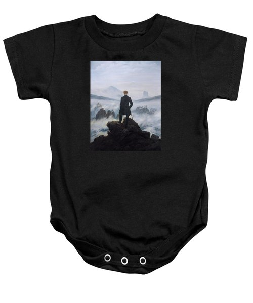 Wanderer Above The Sea Of Fog Baby Onesie