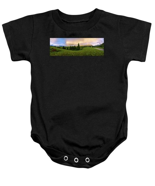 Warm The Soul Panorama Baby Onesie