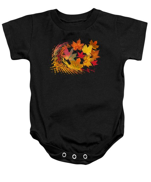 Warm Winds - Autumn Leaves Abstract Baby Onesie