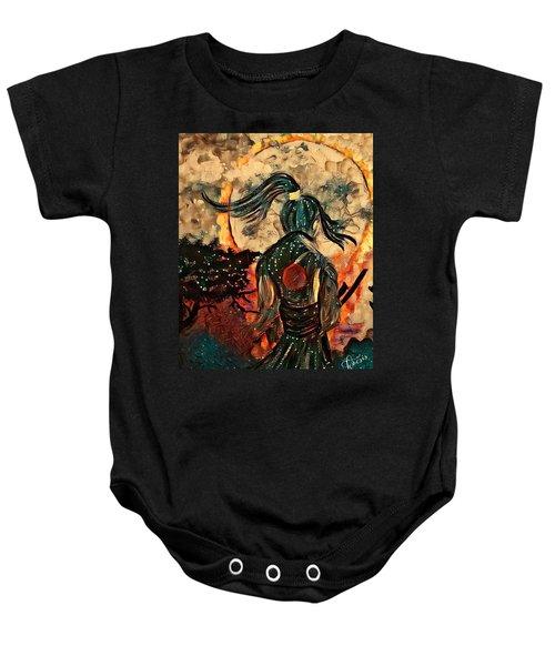 Warrior Moon Baby Onesie