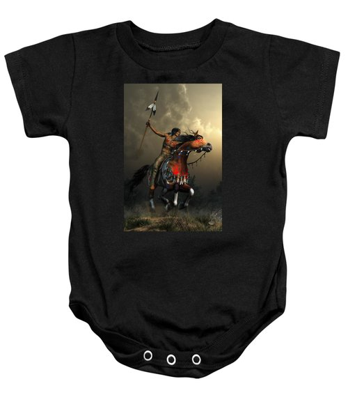 Warriors Of The Plains Baby Onesie