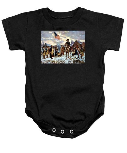 Washington At Valley Forge Baby Onesie