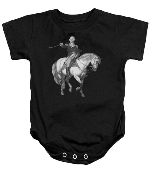 Washington Receiving A Salute At Trenton Baby Onesie