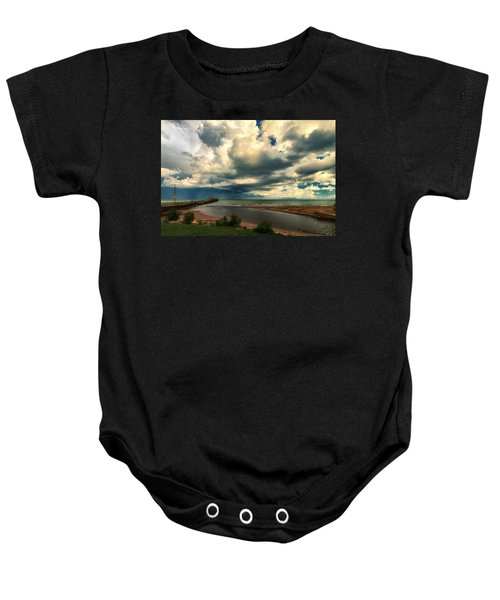 Watching The Storm On Lake Erie Baby Onesie