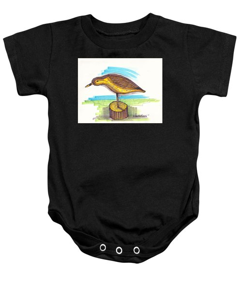 Water Fowl Motif #7 Baby Onesie