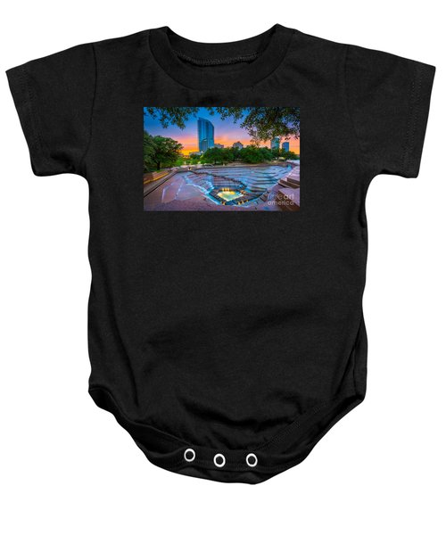 Water Gardens Sunset Baby Onesie