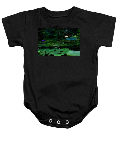 Water Lilies In The Pond Baby Onesie