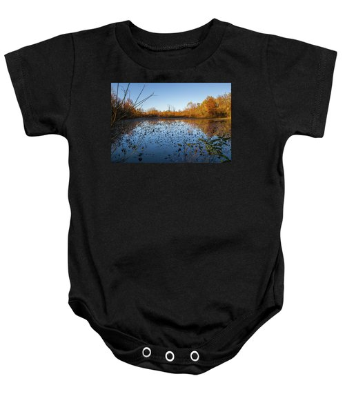 Water Lily Evening Serenade Baby Onesie