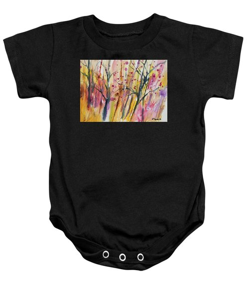 Watercolor - Autumn Forest Impression Baby Onesie