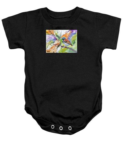 Watercolor - Spotted Antbird Baby Onesie