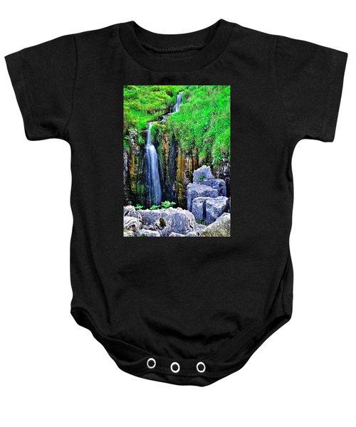 Waterfall At The Buttertubs, Swaledale Baby Onesie