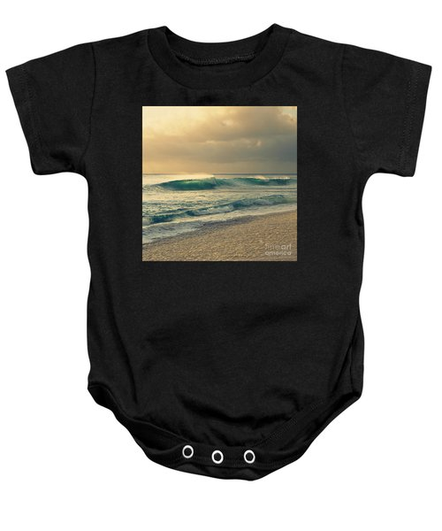 Waves Of Light - Hipster Photo Square Baby Onesie