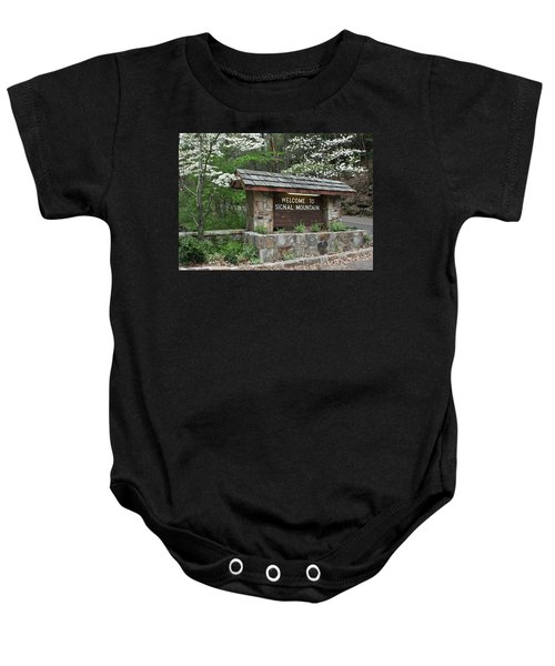 Welcome To Signal Mountain Spring Baby Onesie