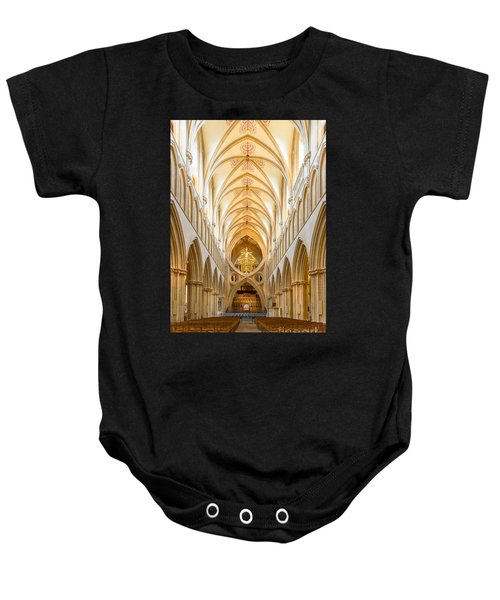 Wells Cathedral Nave Baby Onesie