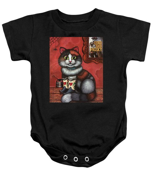 Western Boots Cat Painting Baby Onesie