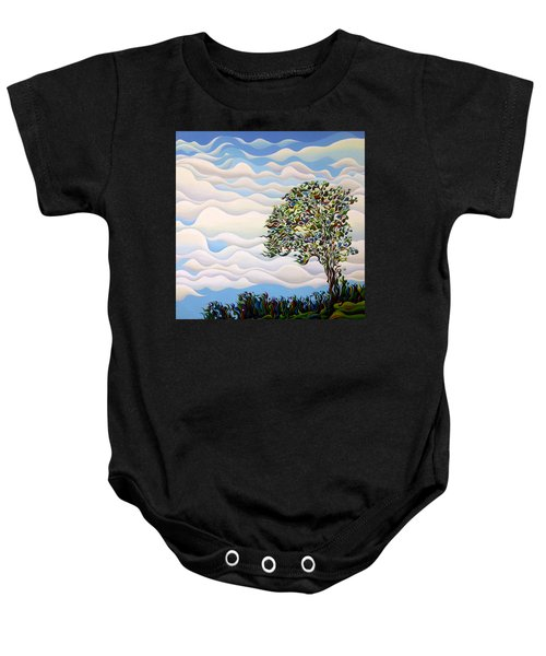 Westward Yearning Tree Baby Onesie